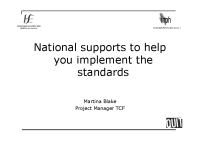 National Supports to Help Implement the Standards front page preview