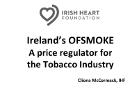 A Price Regulator for the Tobacco Industry IHF front page preview