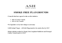 Smokefree Playgrounds and College Campuses ASH front page preview