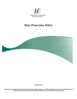 HSE Data Protection Policy front page preview
