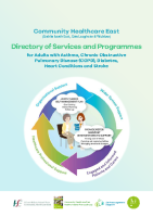 Community Healthcare East (Dublin South East, Dún Laoghaire & Wicklow): Directory of Services and Programmes for Adults with Asthma, COPD, Diabetes, Heart Conditions and Stroke front page preview