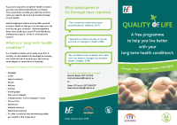 Quality of Life programme front page preview