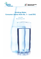 EPA HSE Drinking Water Consumer Advice Note Lead front page preview
