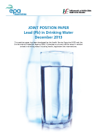HSE EPA Joint Position Paper Lead in Drinking Water front page preview