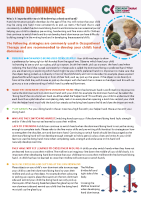 Paediatric Occupational Therapy: Developing hand dominance front page preview