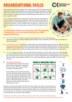 Paediatric Occupational Therapy: Organisational skills front page preview