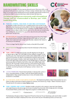 Paediatric Occupational Therapy: Handwriting skills  front page preview
