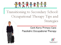Paediatric Occupational Therapy: Transitioning to Secondary School front page preview