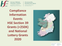 Community Healthcare West funding compliance engagement event September 2019s front page preview