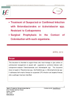 A Guide to Treatment of Infection with Carbapenem Resistant Organism April 2019 front page preview
