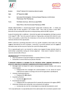 Amoxil® (amoxicillin) intravenous discontinuation memo September 2020 front page preview