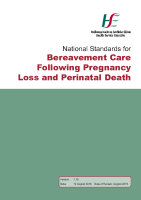 National Standards for Bereavement Care following Pregnancy Loss and Perinatal Death front page preview
