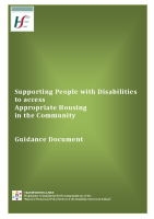 Guidance document on housing options front page preview