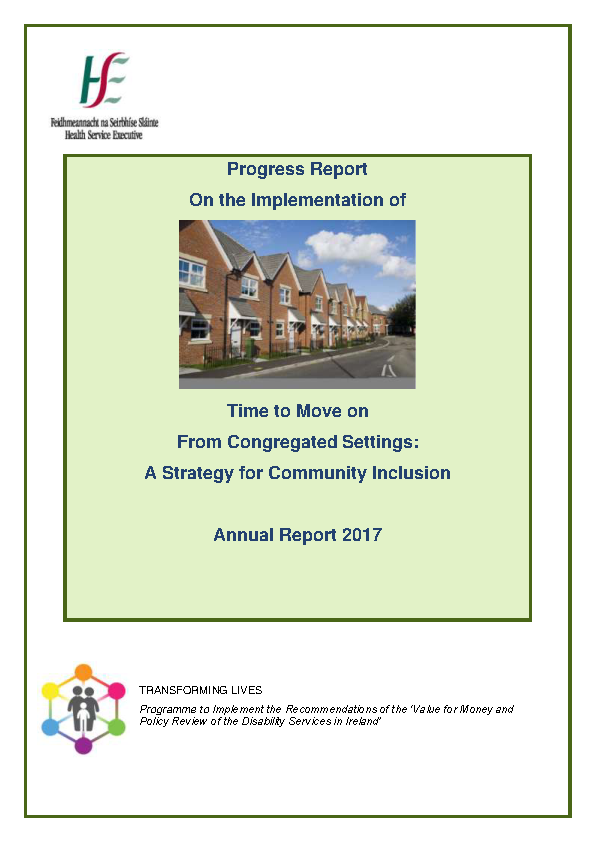 Time To Move On Annual Progress Report 2017 front page preview