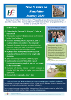 Time to Move on  Newsletter January 2020 front page preview