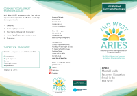 Mid West ARIES Leaflet front page preview