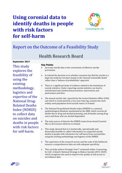 Report on the Outcome of a Feasibility Study - HRB, NOSP1