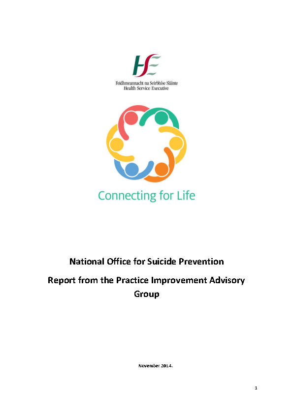 Report - Practice Improvement Advisory Group front page preview
