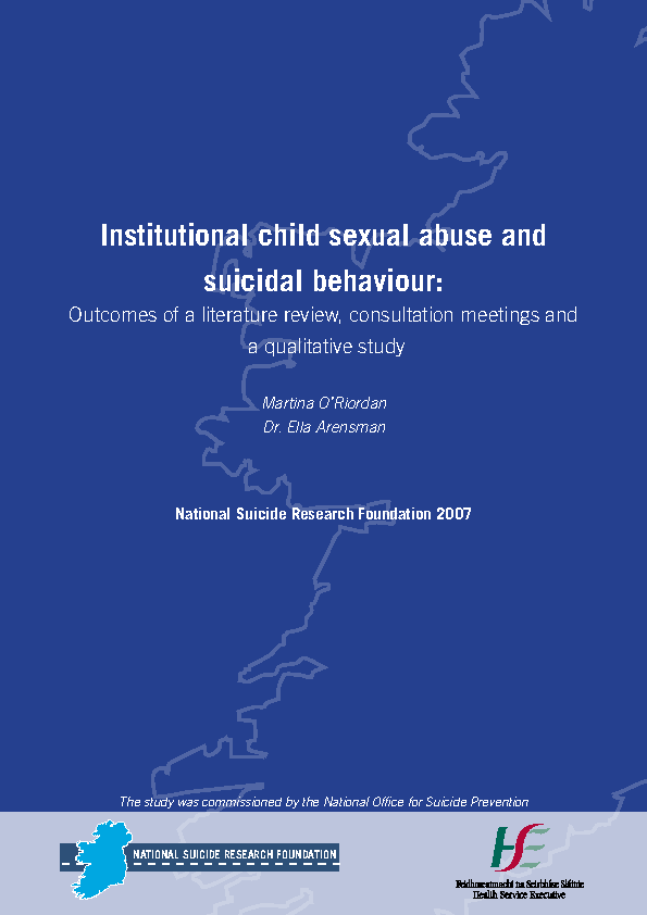 Institutional child sexual abuse and suicidal behaviour front page preview