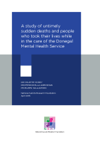 A study of untimely sudden deaths and people who took their lives - Donegal Mental Health Services front page preview