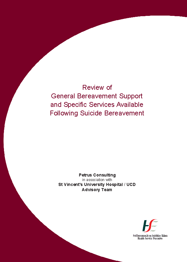 Review Bereavement Support 2007 front page preview