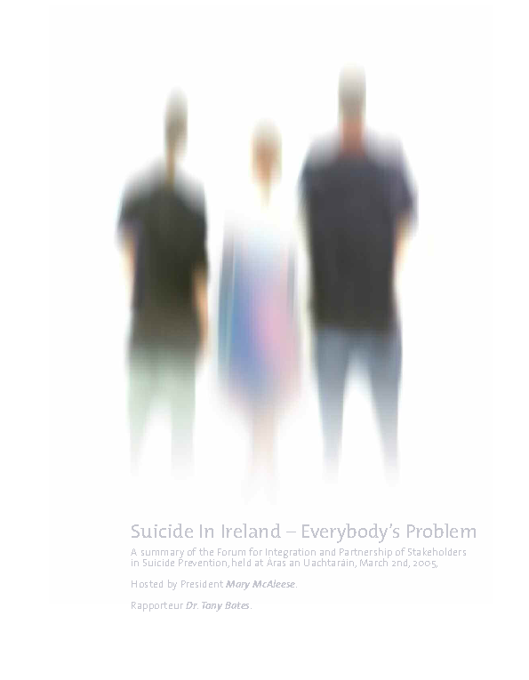 Suicide in Ireland - Everybody's Problem front page preview