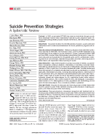 Suicide Prevention Strategies - Systemic Review front page preview