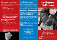 Self harm Info for young people front page preview