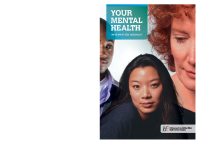 Your Mental Health Booklet front page preview
