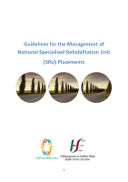Guidelines for the Management of National Specialised Rehabilitation Unit Placements front page preview