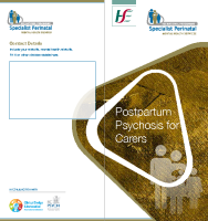 Postpartum Psychosis information for Carers (printable version) front page preview