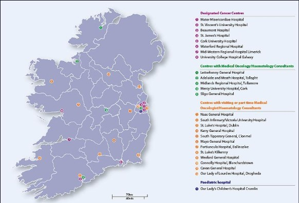 Regional Cancer Services Irelands Health Service - Map of every hospital in us