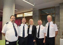 Pictured at the breakfast for volunteers were Cathal Byrnes and Niall Boland, Irish Red Cross; Prof Colette Cowan, UL Hospitals Group; Anthony Graham, Tipperary Civil Defence and Jos Kirby, Limerick Civil Defence
