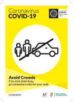 COVID-19 Parks Physical Distancing Avoid Crowds (A3 Poster Bilingual) front page preview
