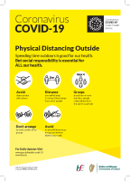 COVID-19 Physical Distancing Outside (A3 Poster Bilingual) front page preview