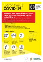 COVID-19 General information - English and Irish - (A3 poster) front page preview