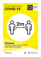 Covid-19 Parks Physical Distancing 2 metres (A3 Poster Bilingual) front page preview