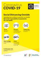 COVID-19 Social Distancing Outside (A3 poster) front page preview