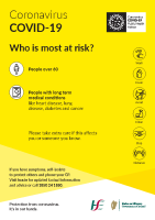 COVID-19 Who is at risk? (A4 poster) front page preview