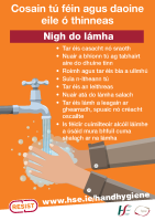 Nigh do lámha - hand hygiene poster in Irish front page preview