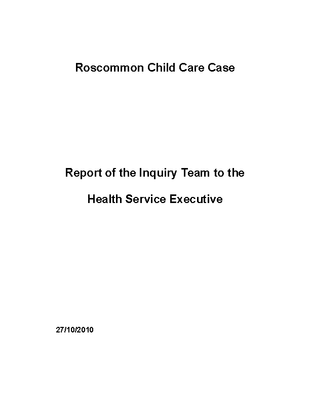 Roscommon Child Care Case front page preview