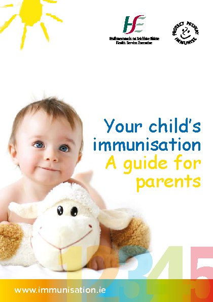 Your Child's Immunisation A Guide for Parents front page preview
