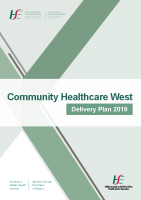 Community Healthcare West Delivery Plan 2019 front page preview image