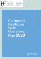 Community Healthcare West Operational Plan 2020 front page preview image