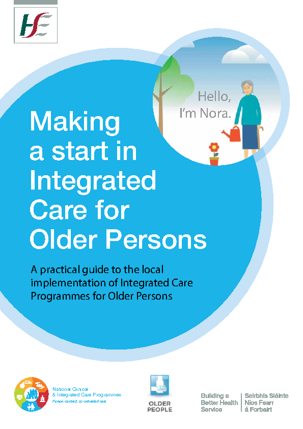 A practical guide to the local implementation of Integrated Care Programmes for Older Persons front page preview image