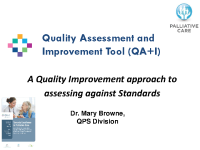 A Quality Improvement approach to assessing against Standards front page preview