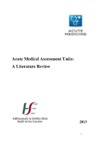 Acute Medical Assessment Units front page preview
