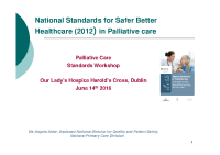 Angela Alder - 'Palliative Care Standards Workshop' front page preview