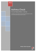 Asthma Check - Chronic Disease Watch front page preview
