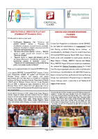 Critical Care Newsletter front page preview